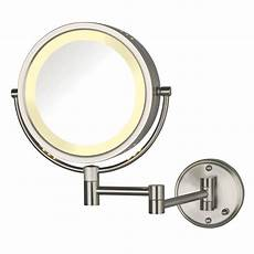 Jerdon Lighted Mirror Jerdon Hl75nd 8 5 Quot Lighted Wall Mount Mirror 1x 8x