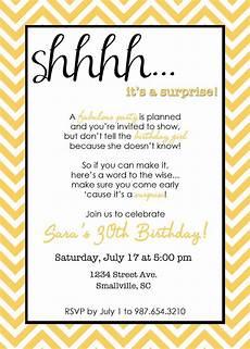 Free Surprise Birthday Party Invitations Wording For Surprise Birthday Party Invitations Drevio