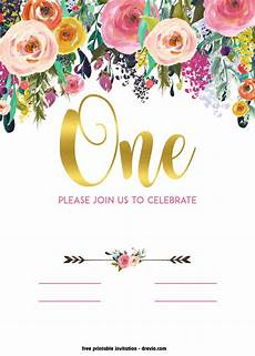 Free Invitation Cards Templates Free Printable 1st Birthday Invitation Vintage Style