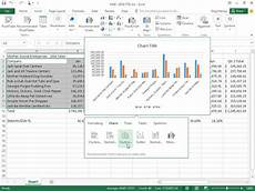 Quick Analysis Tool Excel How To Insert A Chart Via The Quick Analysis Tool In Excel