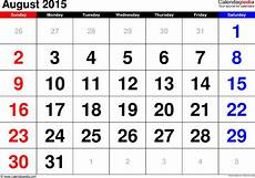 Calendar 2015 August August 2015 Calendar Templates For Word Excel And Pdf