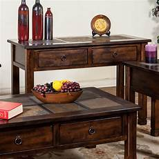 sofa console table w slate top by designs wolf