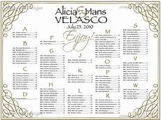 Table Seating Chart For Wedding Reception Template Wedding Seating Chart Seating Poster Table By