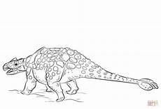 ankylosaurus dinosaur coloring page free printable