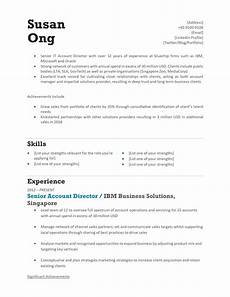 Cv Template Singapore Download Free Resume Templates Singapore Style