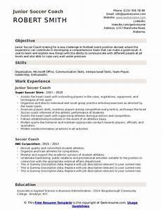 Soccer Coach Resume Soccer Coach Resume Samples Qwikresume