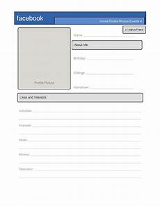 Profile Template Simple Facebook Profile Template Great For Introduction