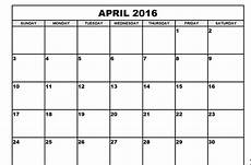 Month Printable Calendar April Month Calendar Printable 2016 Printable Calendar