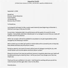 Sample Maternity Letter Sample Client Maternity Letter