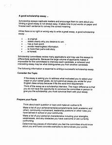 Good Scholarship Essays How To Write A Good Scholarship Essay
