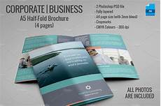 Single Page Brochure Template A5 Half Fold Brochure 4 Pages Brochure Templates