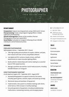 Photos Of Resume Sample Photographer Resume Sample Amp Writing Tips Photographer