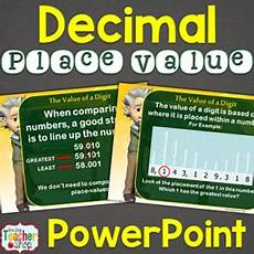 Powerpoint On Place Value Decimal Place Value Lesson Powerpoint By One Stop Teacher