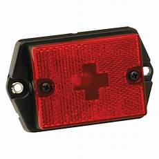 Black Clearance Lights Wesbar 174 003123 Red Side Marker Clearance Light With