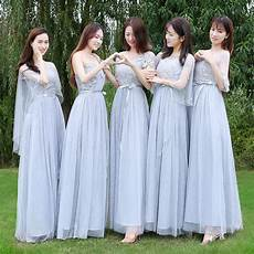 Light Navy Bridesmaid Dresses Navy Blue Dark Blue Light Gray Long Bridesmaid Dress Bride