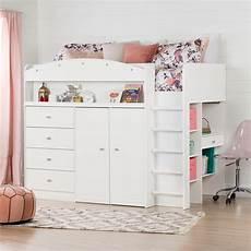 south shore tiara loft bed with desk 819 9900