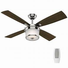 Hunter Fan Light Control Hunter Kimball 52 In Led Indoor Polished Nickel Ceiling