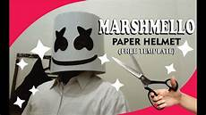 How To Make Template How To Make Marshmello Paper Helmet Free Template By