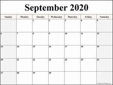 Calendar 2020 September Printable September 2020 Blank Calendar Collection
