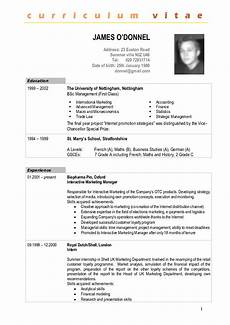 Curriculum Vitae Resume Sample Sample Cv Fotolip Com Rich Image And Wallpaper