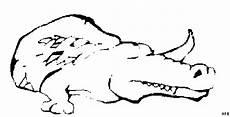 schlafendes krokodil skizziert ausmalbild malvorlage tiere