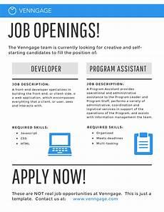 Job Advertisements Samples Examples Of Advertisement Job Vacancy Free Download D