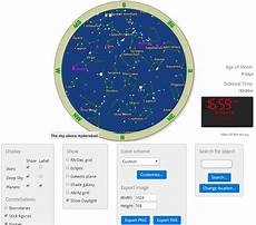 Star Chart For Date Generate Star Chart For Specific Date With These Free Websites