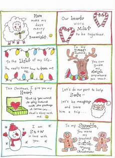 Printable Christmas Note Cards Christmas Love Notes For The Happy Hubby Free Printable