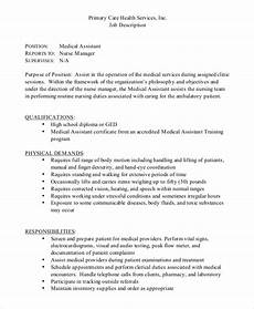 Medical Assistant Duties And Responsibilities List Sample Medical Assistant Job Dutie 7 Documents In Word Pdf