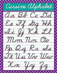 Chart Script Cursive Chart Tcr7688 Teacher Created Resources