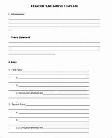 Essay Outline Template Word 21 Outline Templates Free Sample Example Format