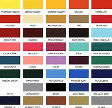 Mab Paint Color Chart Paint Color Chart Elite Letters Amp Logos