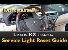 2004 Lexus Rx330 Check Engine Light Lexus Rx 2004 2016 Service Light Reset Guide Youtube