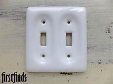 Cottage Light Switch Covers Porcelain Double Light Switch Plate Cover Electrical