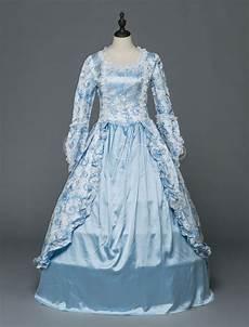 Light Blue Costume Retro Costume Halloween Rococo Victorian Dresses Lace