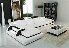 modern white leather sectional sofa vg122c leather