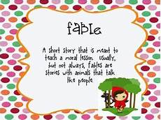 Fable Anchor Chart 2nd Grade Fable Anchor Charts Reading Classroom Reading