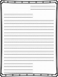Letter Writing Paper Template Friendly Letter Writing Paper Writing Papers Teaching