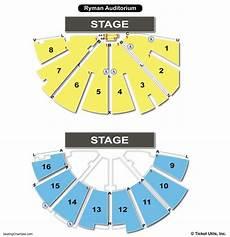 Auditorium Seating Chart Ryman Auditorium Seating Chart Seating Charts Amp Tickets