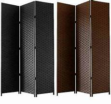 free standing folding woven paper screen 3 section