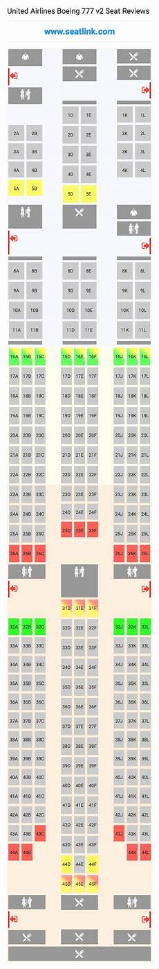 United Airlines Seating Chart 777 International United Airlines Boeing 777 V2 Seating Chart Updated