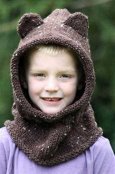 balls to the walls knits baby hooded cowl