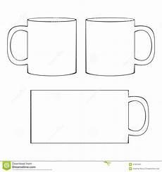 Coffee Mug Template Coffee Mug Template Blank Cup Stock Vector Illustration