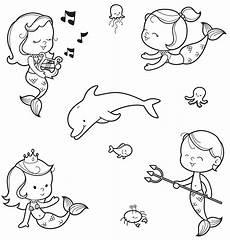 Malvorlagen Meerjungfrau Quiz Kostenlose Malvorlage Sommer Unterwasserwelt Zum Ausmalen