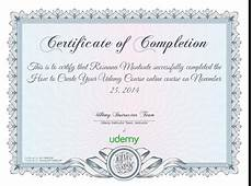 Fake Course Certificate Completion Certificate For How To Create Your Udemy Course