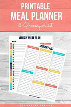 Meal Planning Grocery List Template Free Meal Planning Template With Grocery List