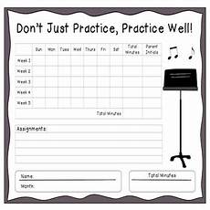 Practice Charts For Music Students Instrumental Monthly Music Practice Chart By Music Is