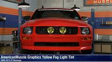 How To Tint Mustang Lights Mustang Yellow Fog Light Tint 05 12 Gt Review Youtube