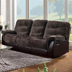 coaster 601081 brown fabric reclining sofa a sofa