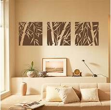 wall home decor 3 large pcs bamboo removable wall stickers vinyl decal